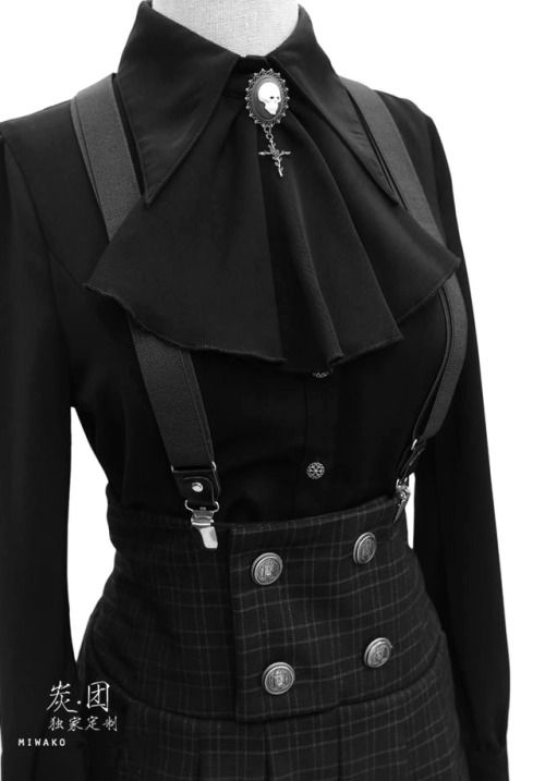 #black #goth #vanta #church #cathedral #emo #frilly #anime #yaoi #suspenders #br...