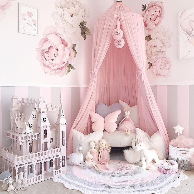 Our light pink canopy is such a statement piece in... - #canopy #LIGHT #nursery ...