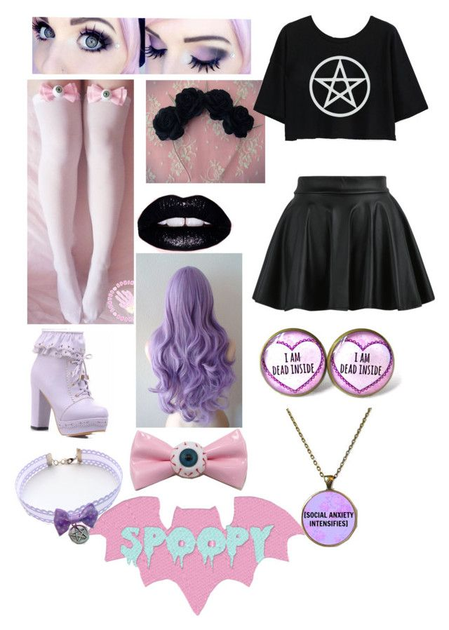 """Pastel Goth"" by redclayfaerie ❤ liked on Polyvore"