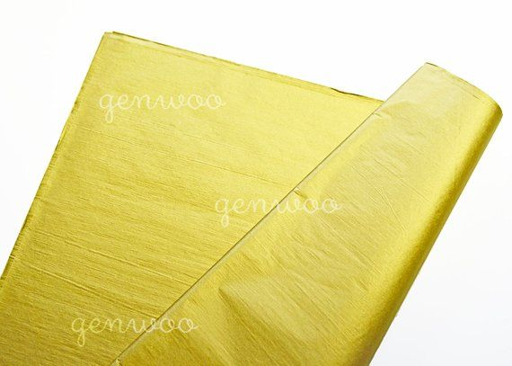 2-Side Gold Tissue Paper-Gold Wrapping Tissue-Gift Wrapping Paper-Metallic Wrapp...