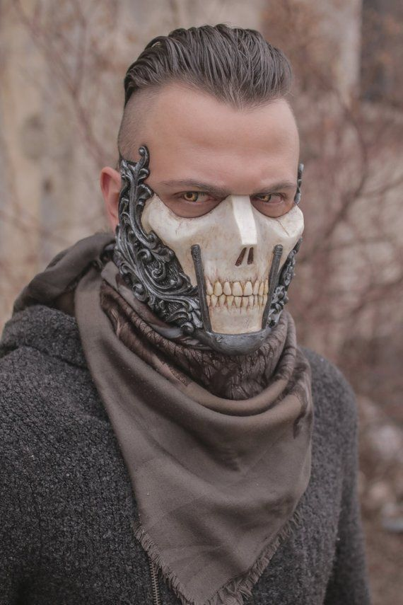 THE RAIDER (Resin Half-Face Skull Mask) - #HalfFace #Mask #masks #RAIDER #Resin