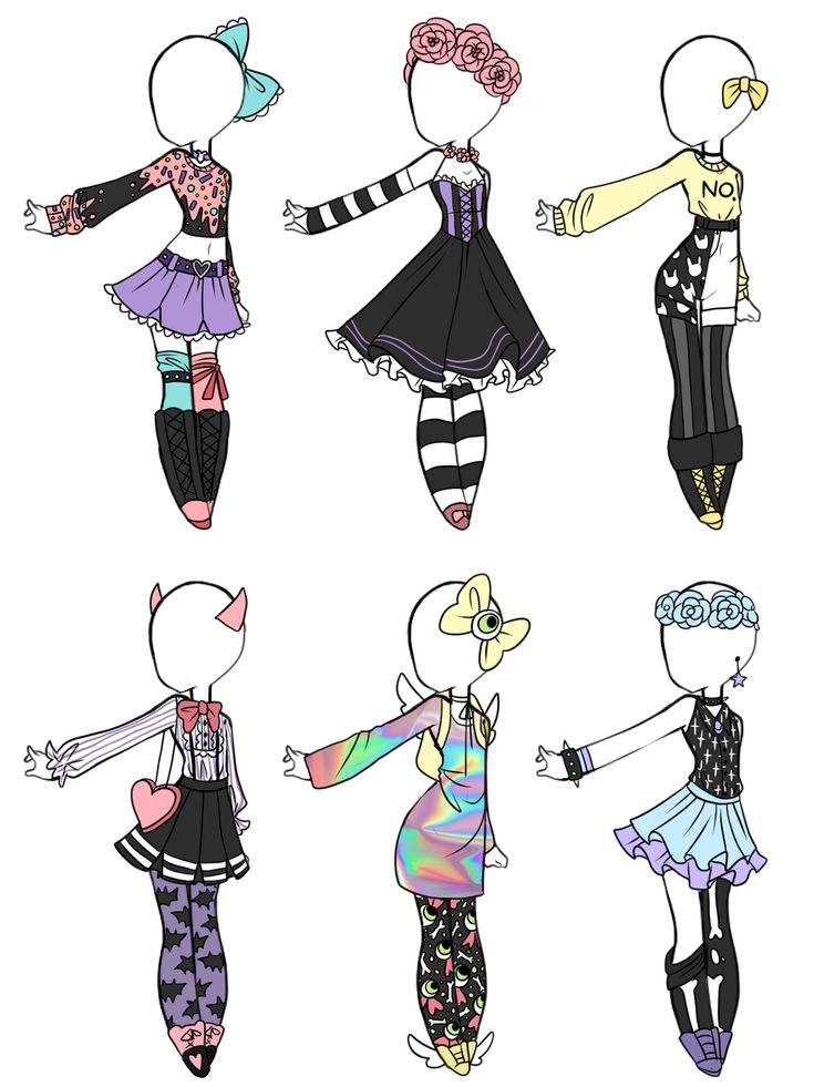 Emergency OTA Pastel Goth adoptables (1/6 OPEN) by Aligelica on DeviantArt