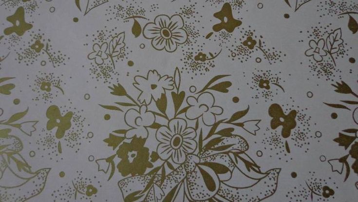 Vintage Gift Wrap Wedding 1970s Wrapping PaperOne   Etsy