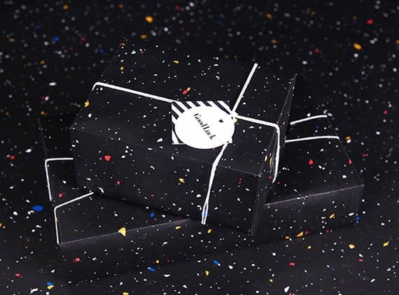 Star Debris Wrapping Paper,Birthday Gift Wrap,Black Debris Wrapping Sheets,Holid...