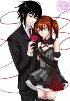Girls, Emo Animal Couple Punk Goth, Anime Couples, Couples Innocent, Couple Inno...