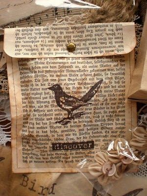 GIFT BAGS MADE FROM OLD BOOK PAGES