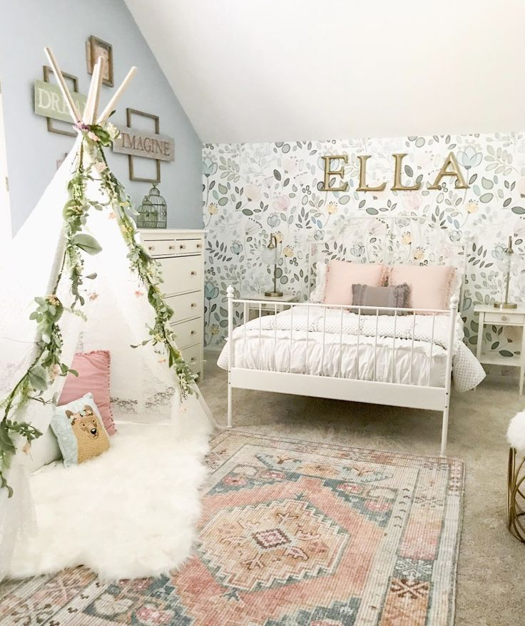 Little Girl Decor and Bedroom Reveal | Bless This Nest Big girl bedroom ideas. W...