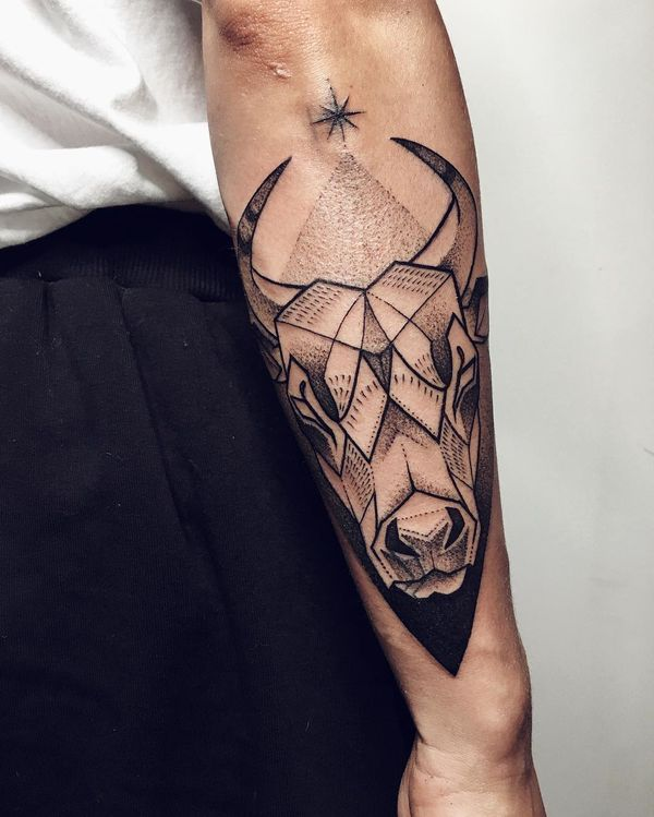 Powerful Taurus Symbol Tattoos and Its Meanings - In many cultures, the bull has...