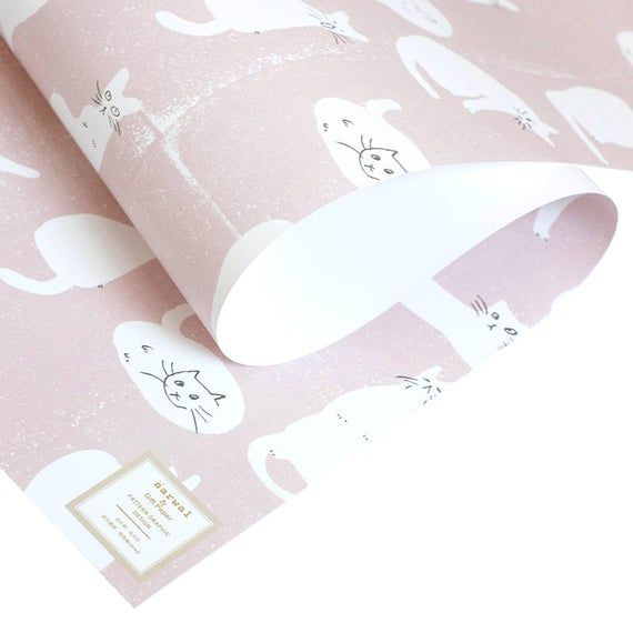 Pink Cats Wrapping Paper,Wedding Gift Wrap,Kitty Wrapping,Holiday Gift Wrap,Craf...