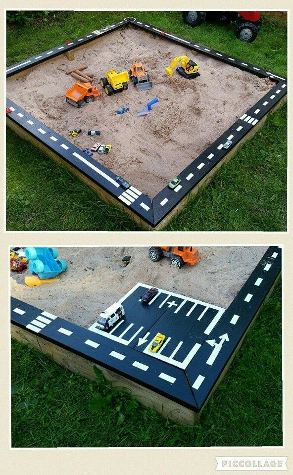 Road sand pit Home Education Ideas Kids Family Garden Inspiration Follow T