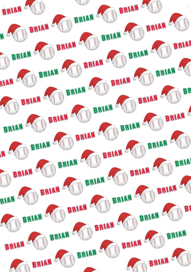 Baseball Personalized Christmas Gift Wrap