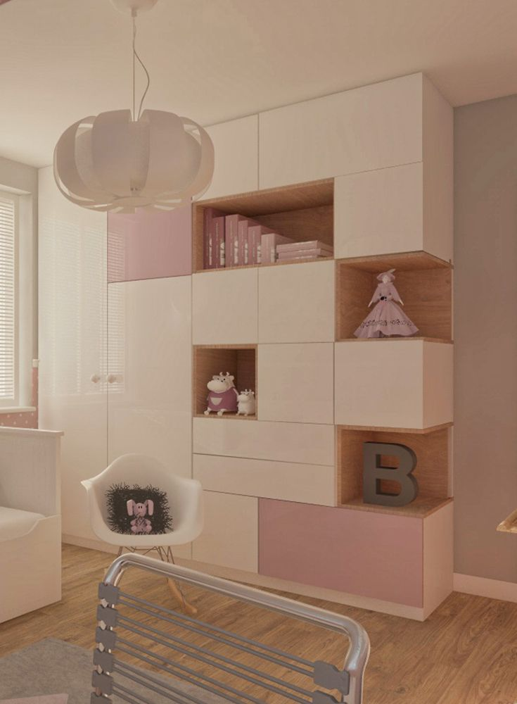 Kinderzimmer-Madchen-Pastell-Kindertapete-Regal-Room-For-Kids