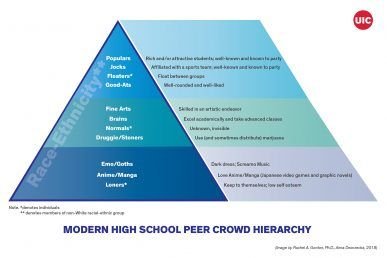 New study details todays high school cliques and identified 12 peer crowds and p...