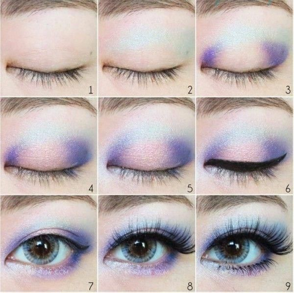 Blue and pink eye shadow tutorial #blueeyemakeup - #Blue #blueeyemakeup #Eye #Pi...