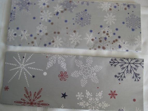 Christmas vintage gift wrap paper, 4 folded sheets, silver with winter themes, 2...