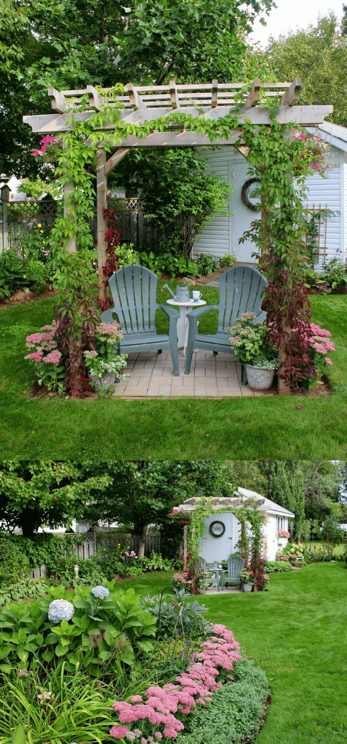 Beautiful Garden and Shed | Backyard Seating Area (Bench, Shed) Ideas and Design...