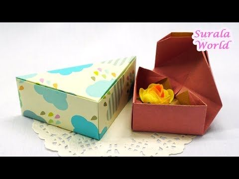 Gift Box DIY, Gift wrapping / Triangular Box Origami / How to make a Paper Box -...