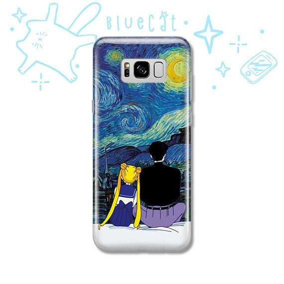 Moon gift Sailor Van Gogh iPhone X Case iPhone 7 8 6 5 5S SE Case Samsung S8 S7 ...