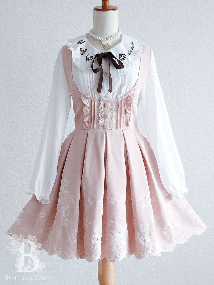 🌹LIZ LISA🌹Dress JSK Cinderella Castle Scalloped Lace-up Pink Lolita Hime D...