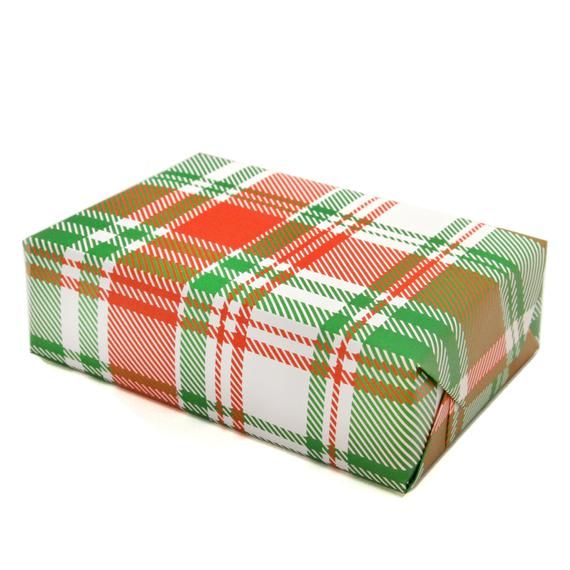 Red & Green Plaid Gift Wrapping Sheets