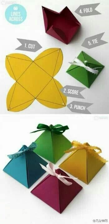 Pyramid gift wrap ~ clever! #givewithabandon | join group at www.facebook.com/gi...