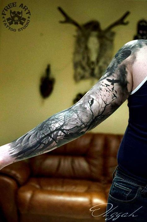 Tief und Super Cool Forest Tattoo Ideen (12) #Wald #Ideen #Super #Tattoo #tattoo...