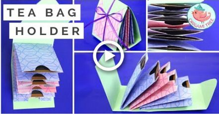 Gift Wrapping Idea - How to Make a Tea Bag Holder - Paper Crafts Tutorial