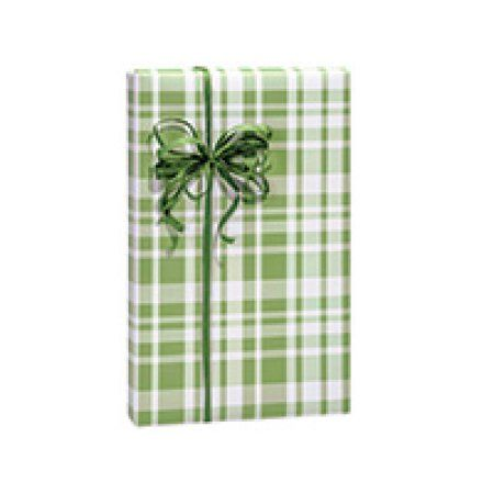 Sage Plaid Birthday / Special Occasion Gift Wrap Wrapping Paper-16ft