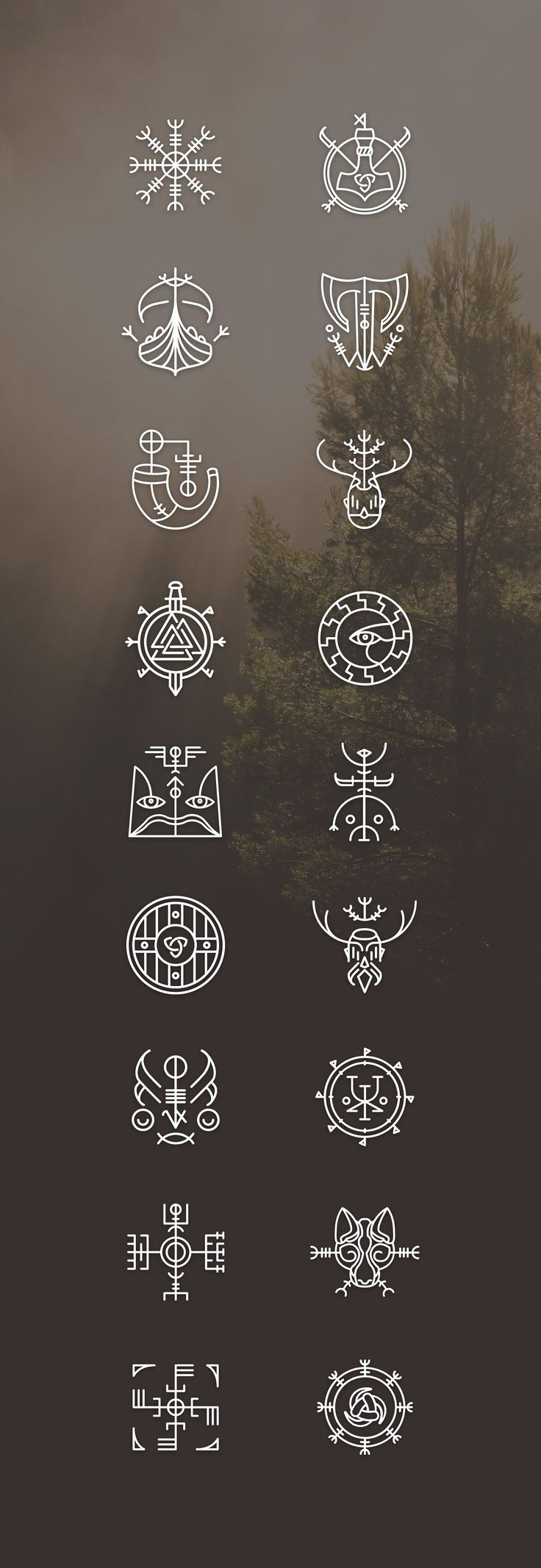 Vikons: the Striking #Viking #icon set by blanaroo on Creative Market - #blanaro...