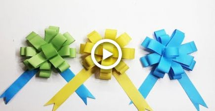 Paper bow gift wrap for Wedding car , Birthday Party & Home Decoration |Origami for
