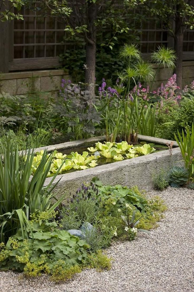 45 Favourite Pond Garden Ideas For Beautiful Backyard #PondGardenIdeas #BeautifulBackyardGarden