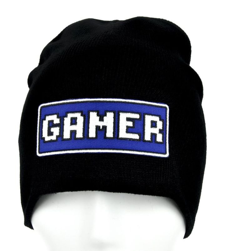 Classic Gamer Beanie Alternative Clothing Knit Cap  #horror #cosplay #goth #anim...