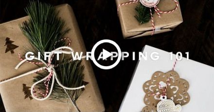 How To: DIY Minimal Gift Wrapping for the Holidays!