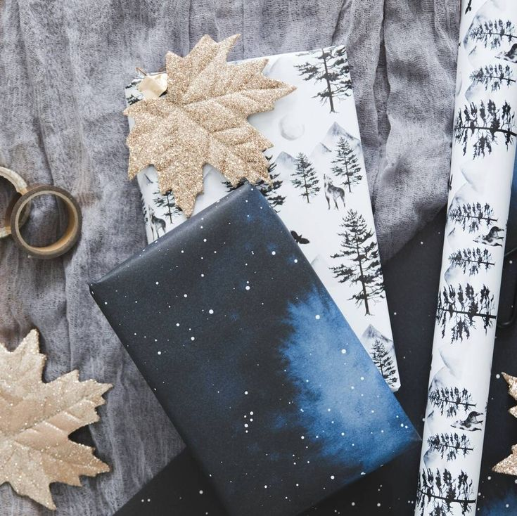 Watercolour Celestial And Mystical Wrapping Paper Set