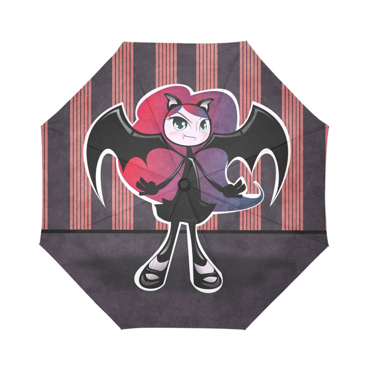 Cute little Vampire - Pink Auto-Foldable Umbrella. Check out other products with...