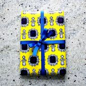 Dolce Yellow Gift Wrap Two Sheets Folded
