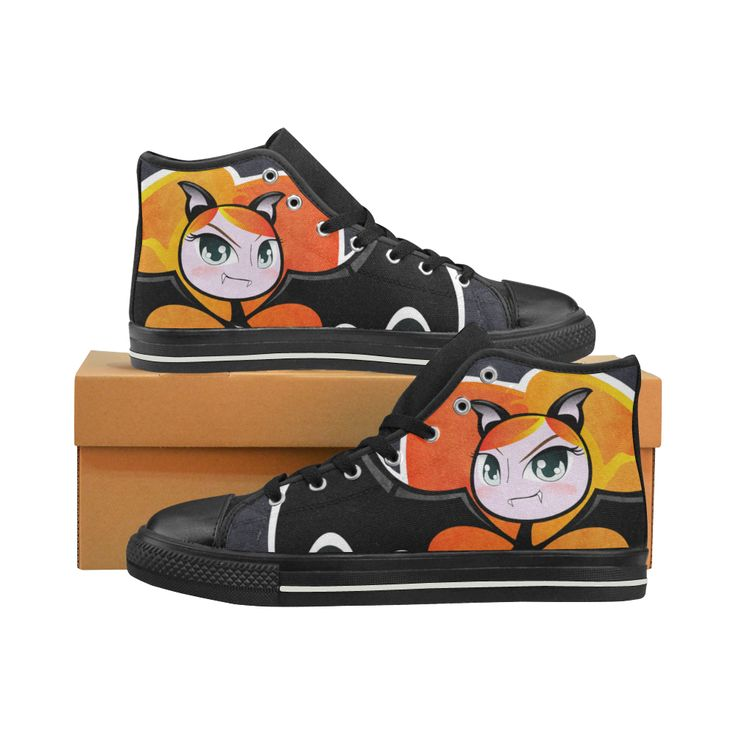 Cute little Vampire - Firehair High Top Canvas Women's Shoes/Large Size (Mo...