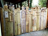 I just LOVE this Birdhouse Gate that I built for my back yard. I was inspired by