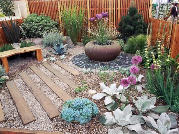 Discover ideas for eye-catching courtyard gardens from the experts at HGTV Garde...
