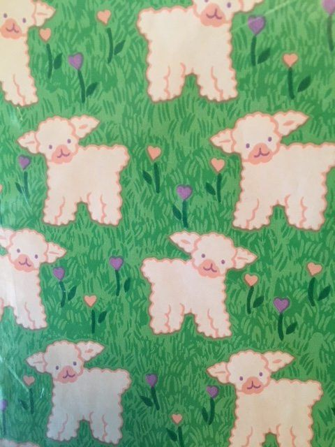 Vintage Easter Lamb Gift Wrapping Paper by ClassicAndCurrent on Etsy
