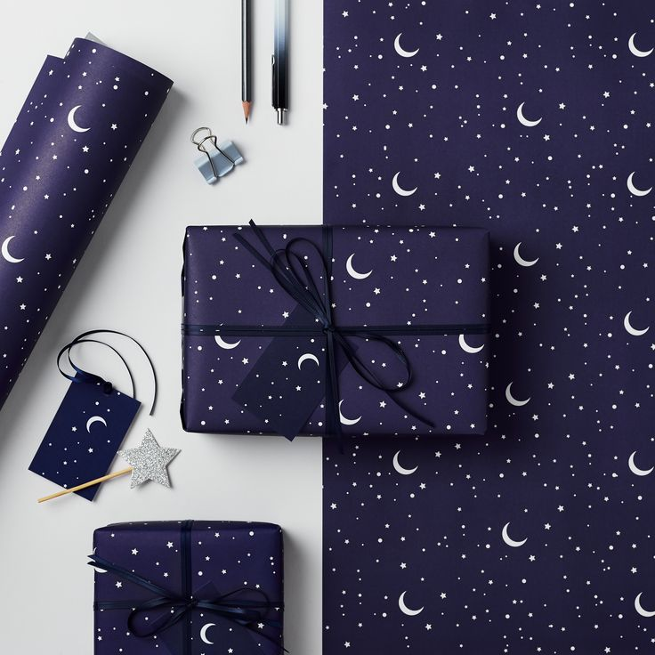 Stars and Moons Gift Wrap by Studio 9 Ltd Photography by Laura Hutchinson