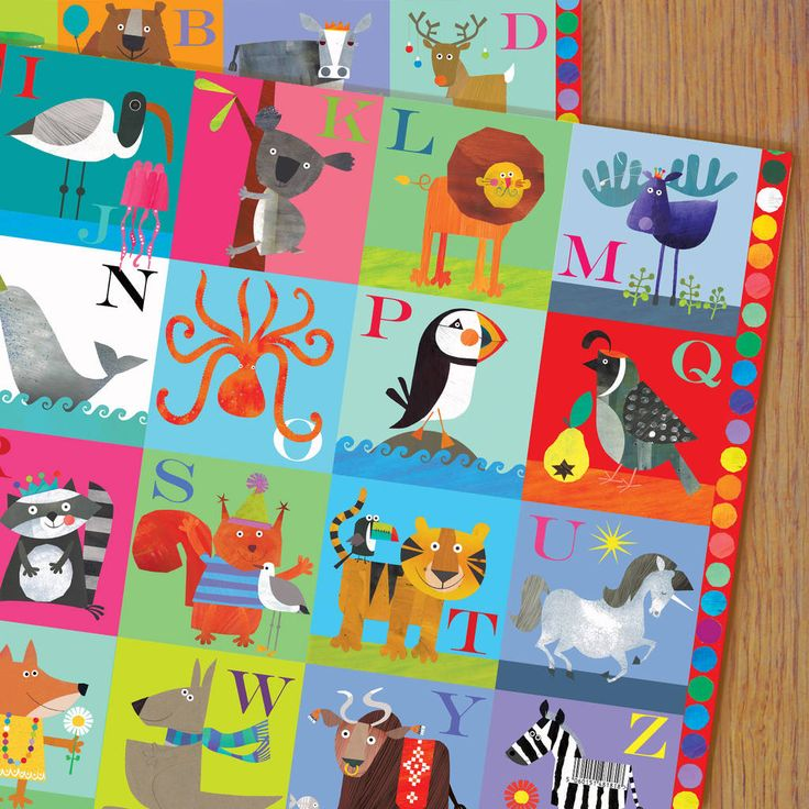 Alphabet Gift Wrap Two Sheets