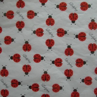"""Adorable Ladybug Tissue to wrap your special Ladybug Gift! Four sheets of 20"""" x ..."""
