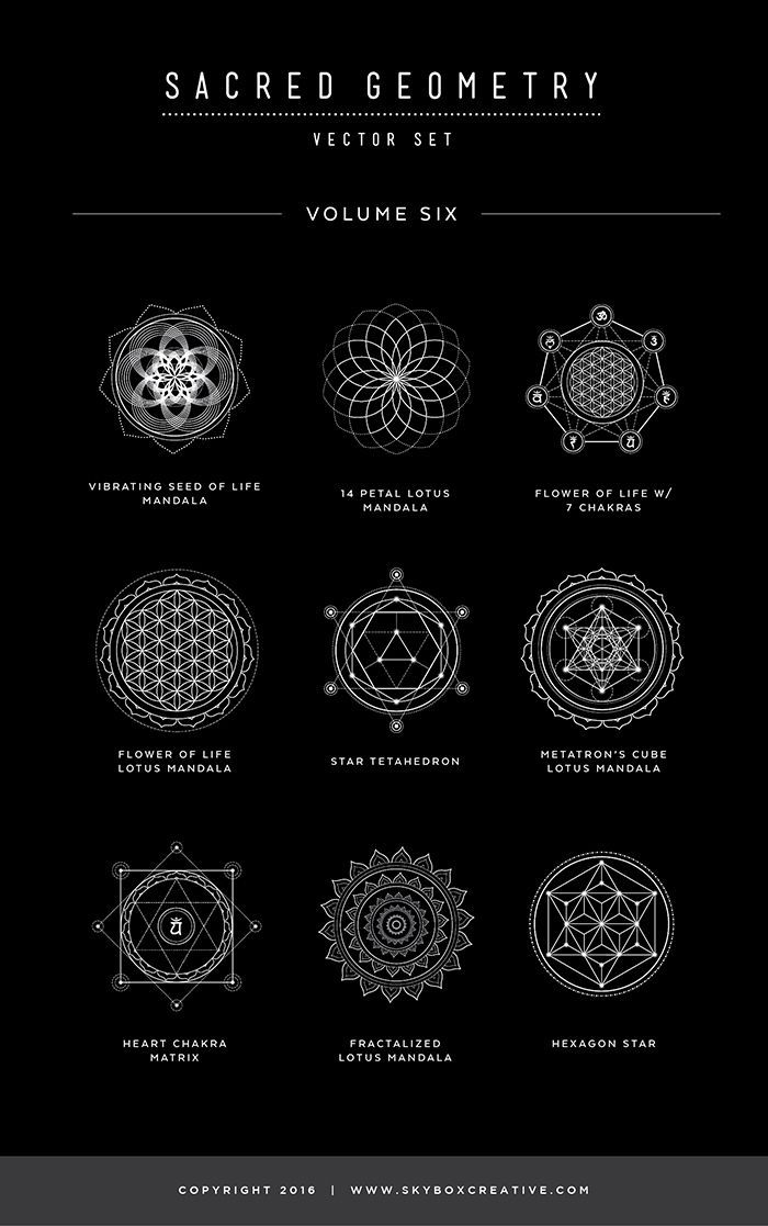 Sacred Geometry Vector Set Vol. 6 comes with 9 NEW... - #geometry #sacred #Set #...