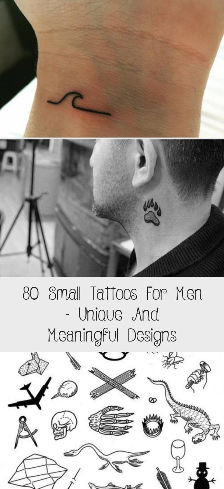 80 Small Tattoos For Men – Unique And Meaningful Designs