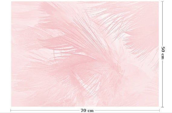 Pink Feather Wrapping Paper,Birthday Gift Wrap,Feather Painting Wrap,Holiday Gif...