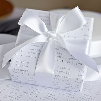 'lovely present' gift wrap by slice of pie designs | notonthehighstree...