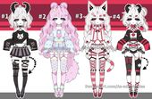 Goth Kemonomimi adoptables open by AS-Adoptables on DeviantArt