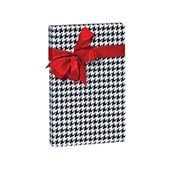 Black and White Houndstooth Birthday / Special Occasion Gift Wrap Wrapping Paper...