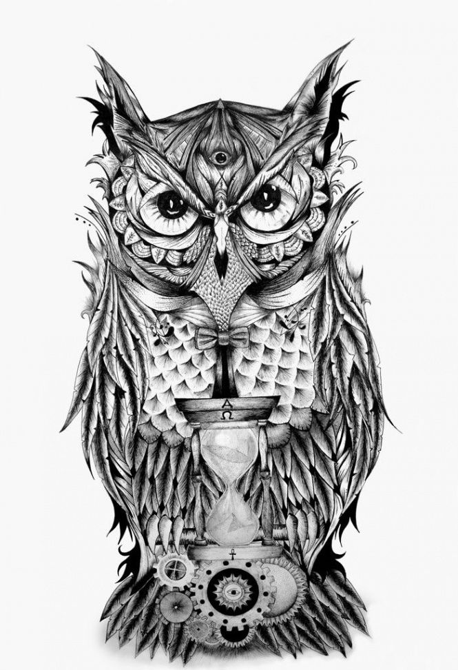 Learn The Truth About Owl And Time Tattoo Meaning In The Next 10 Seconds | owl and time tatto...